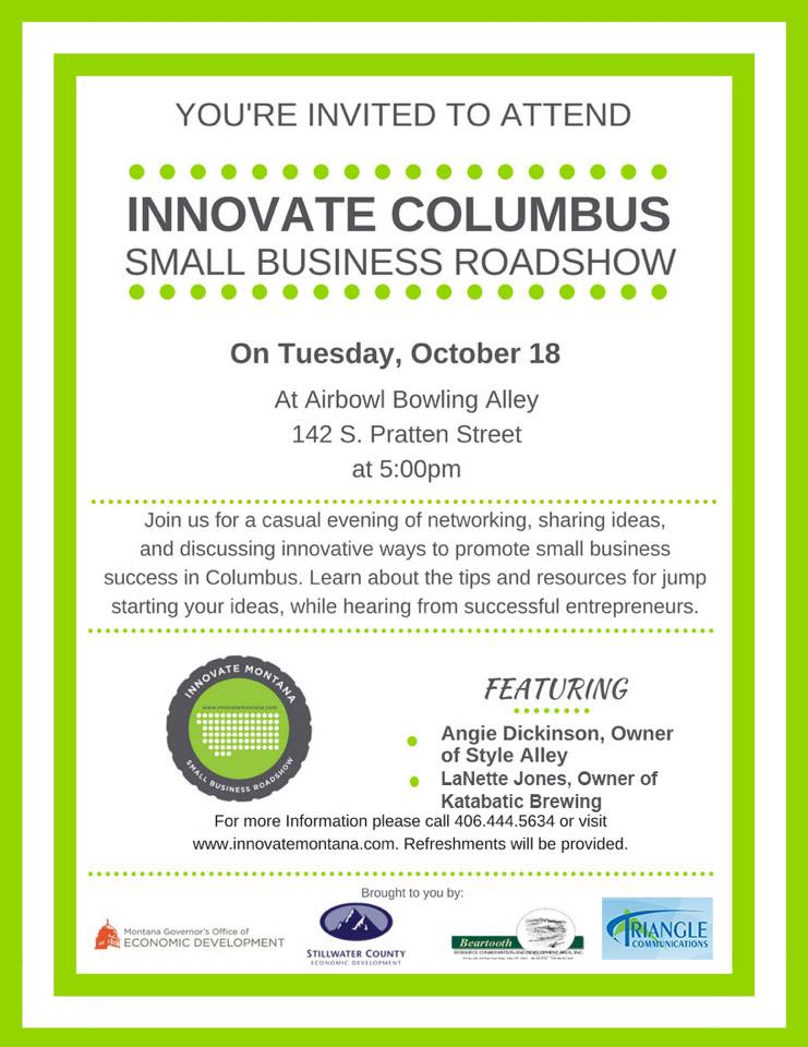 the innovate montana small business roadshow stillwater chamber