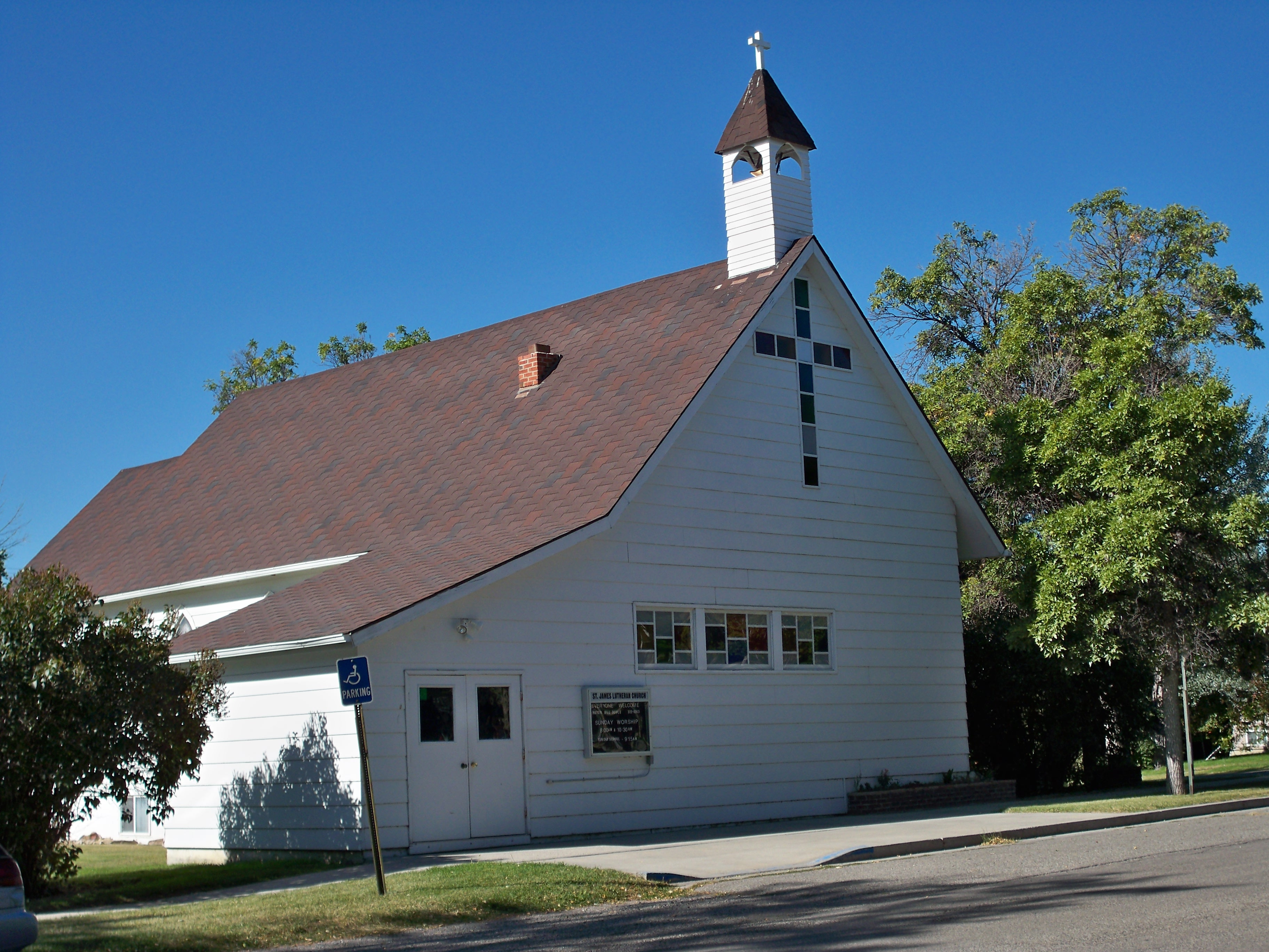 St. James Lutheran Church located in Columbus, Montana