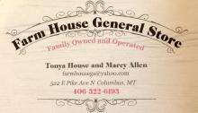The Farm House General Store located in Columbus, MT
