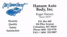Hanson Auto Body located in Columbus, Montana