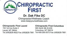 Chiropractic First located in Columbus, MT